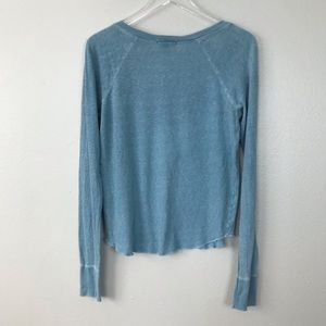 James Perse Tops - Standard James Perse Blue Long Sleeve V-Neck Top